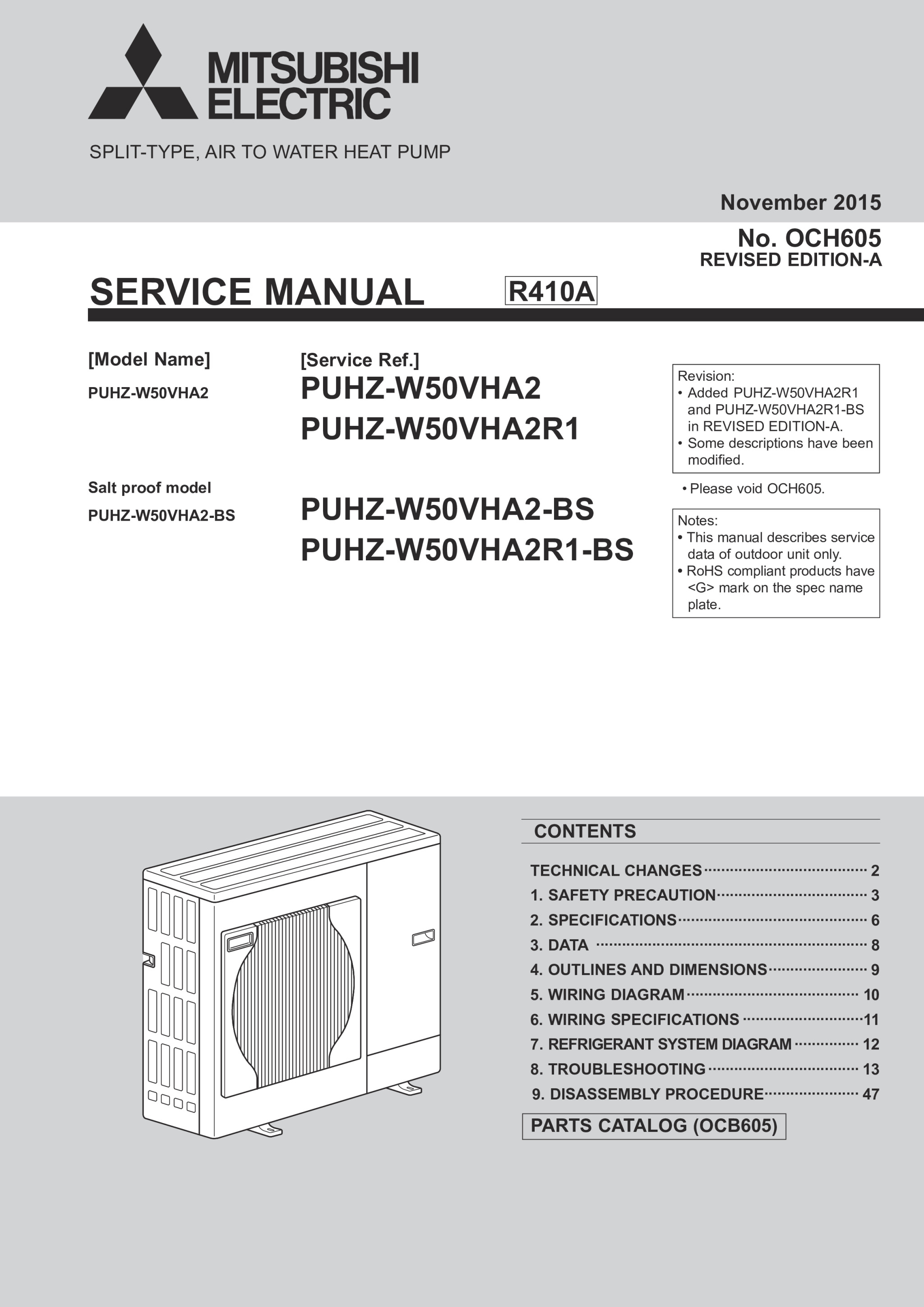 ecodan puhz w50vha bs service manual och605a mitsubishi electric rh library mitsubishielectric co uk 2003 Mitsubishi Lancer Manual Cover Mitsubishi Montero Engine Manual