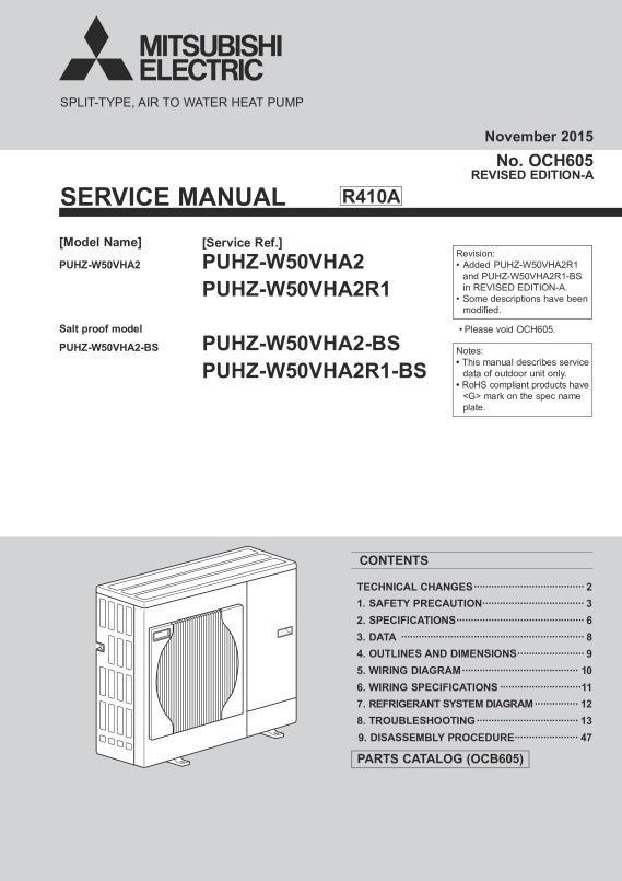 ecodan puhz w50vha bs service manual och605a mitsubishi electric rh library mitsubishielectric co uk mitsubishi ecodan instructions mitsubishi ecodan instructions