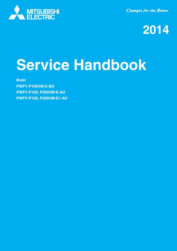 PWFY-P100VM-E-BU Service Manual (MEE12K016) - Mitsubishi Electric